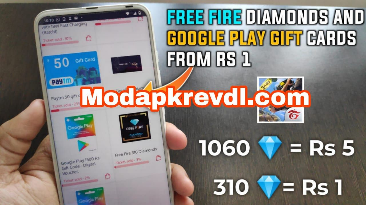 Way To Earn FREE FIRE DIAMONDS 1060 💎 = RS 5 | GET FREE FIRE DIAMONDS AND GOOGLE PLAY GIFT CARD FOR FREE